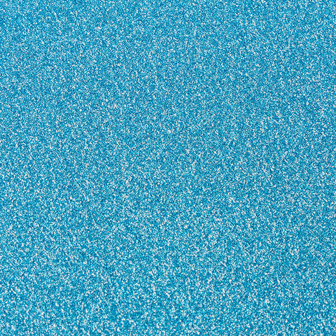 10 x Turquoise Non-Shed Glitter Premium Card Stock - 250gsm