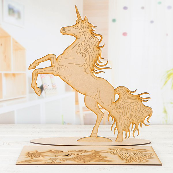 MDF Prancing Unicorn Project Kit