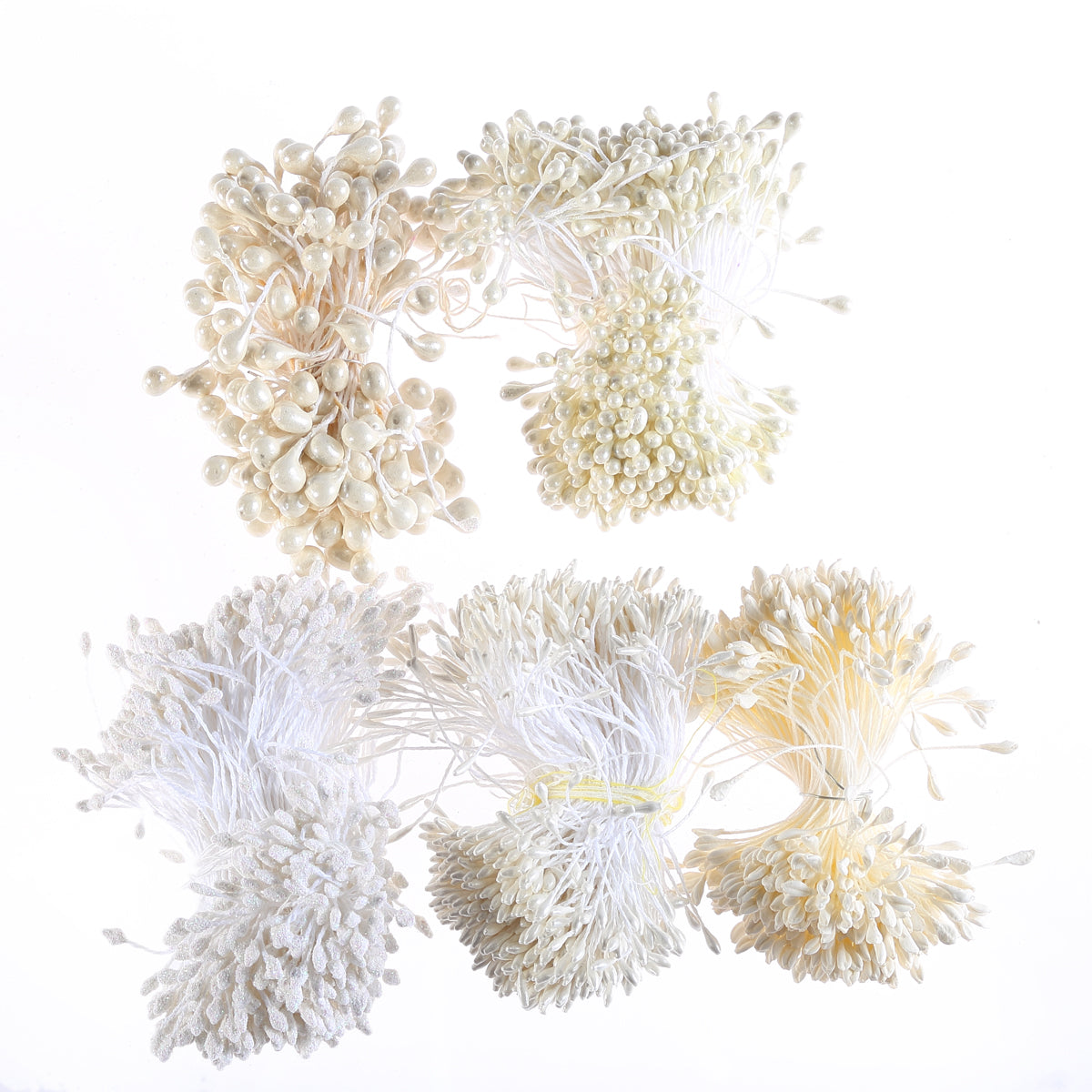 White Flower Stamen Collection