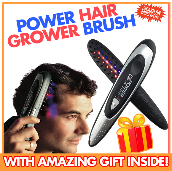 POWER HAIR GROWER BRUSH with Free Cash On Delivery Fee