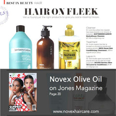 Jones Magazine Novex Olive Oil