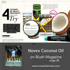 Blush Magazine Novex coconut oil