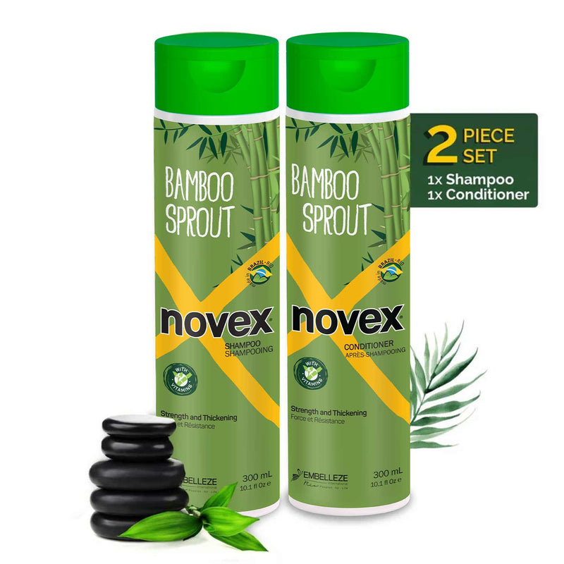 Bamboo Shampoo & Conditioner Set (300ml) - Novex Hair Care