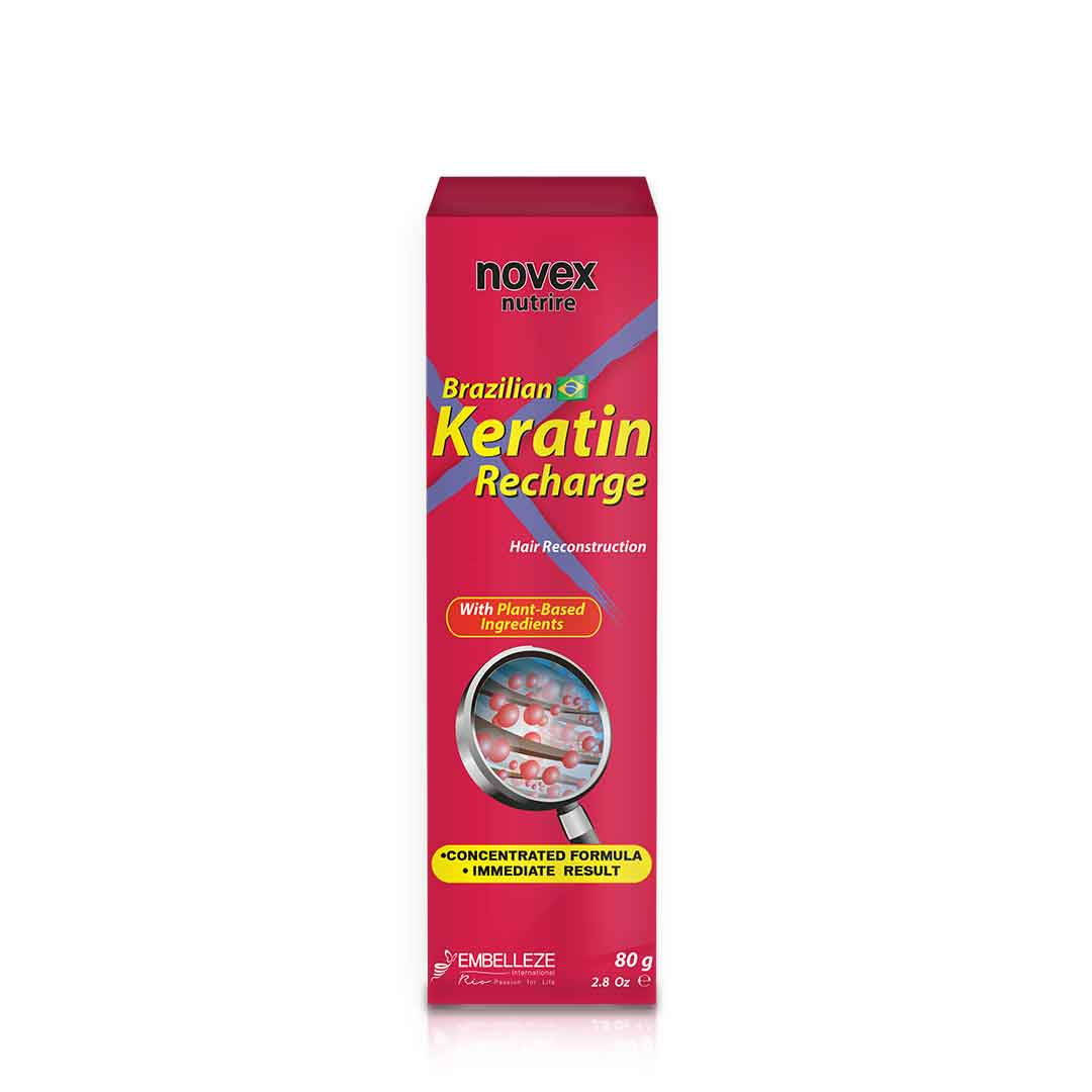 Brazilian Keratin Recharge Tube Leave In (80g) - Novex Hair Care