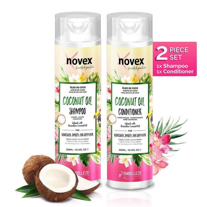 Coconut Oil Shampoo & Conditioner Gift Set - Novex Hair Care
