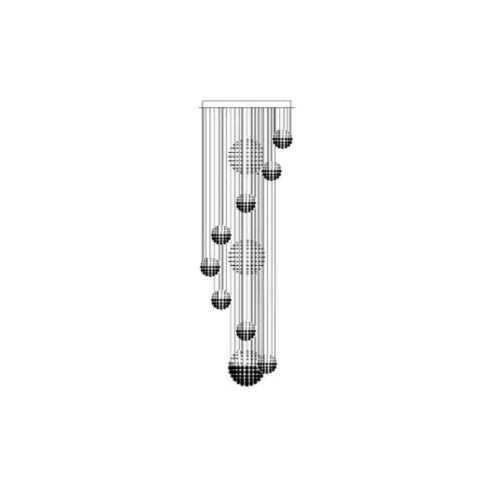 Raindrop Chandelier Staircase Chandelier Sofary Lighting