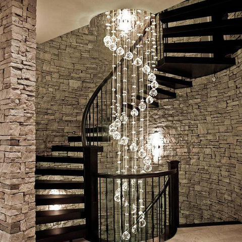 Spiral Raindrop Crystal Chandelier - Sofary Lighting