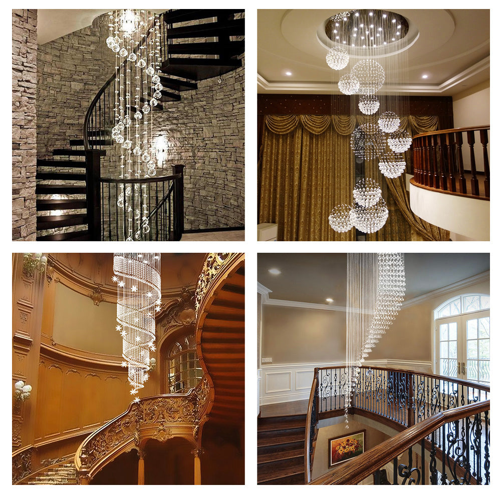 Staircase Crystal Chandelier - Sofary Lighting
