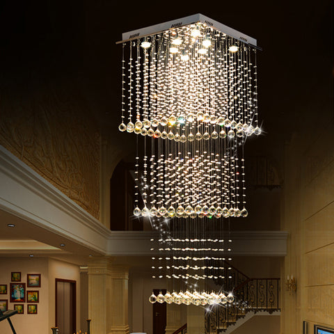 Square Multi Layer Crystal Chandelier - Sofary Lighting