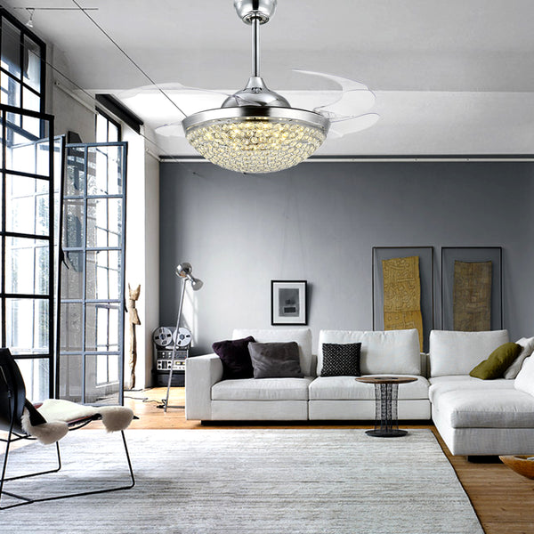How to Pick the Perfect Chandelier Ceiling Fan for Your Living Room