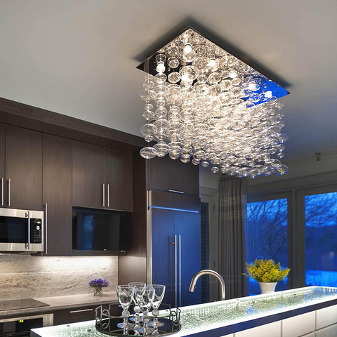 Modern Kitchen Bubble Glass Raindrop Chandelier - Sofary Lighting
