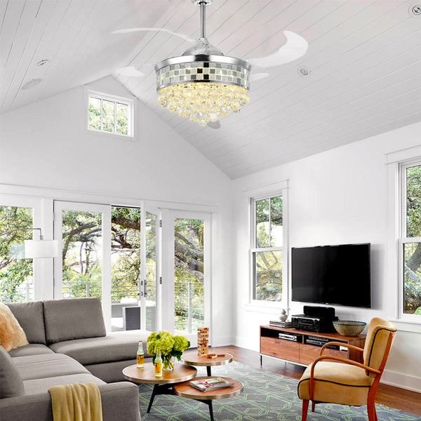 How to Pick the Perfect Chandelier Ceiling Fan for Your Living Room - Sofary Lighting