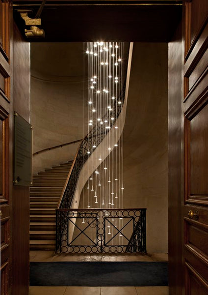 staircase chandelier | raindrop chandelier