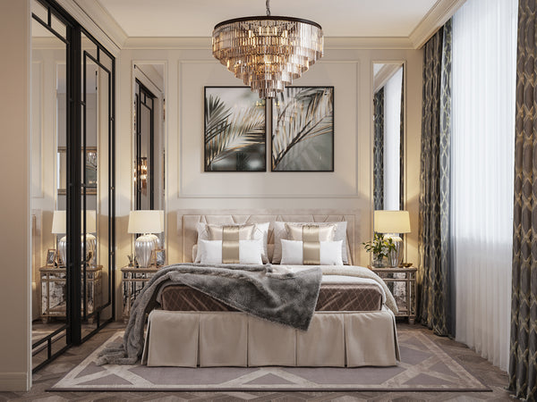 How To Choose The Beautiful Brilliance Of A Bedroom Chandelier