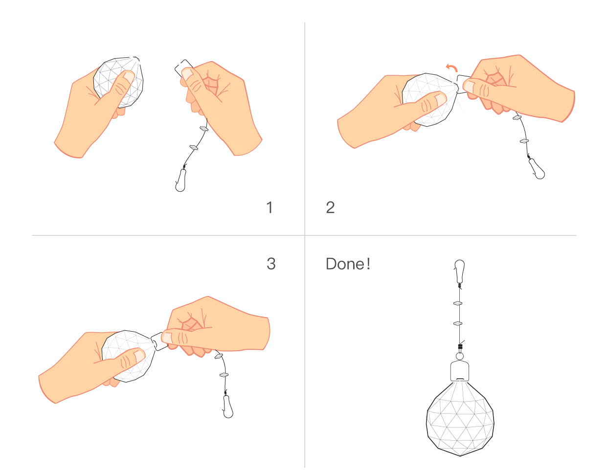 How To Install Chandelier - Install The Crystal | Sofary