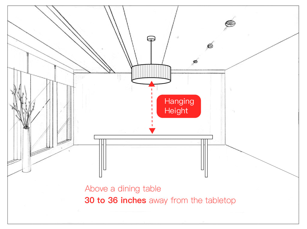 Chandelier Size Guide - moooni Lighting