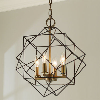 Caged Chandelier - Sofary Lighting