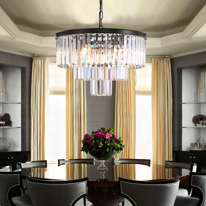 3-tier Crystal Chandelier Lighting - Dining Room-large picture
