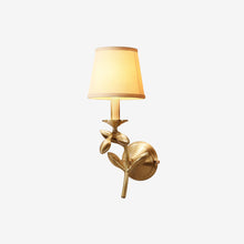 Bina Wall Lamp Brass Finish Lights on