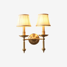 Wall Lamp Brass Finish With Double Shades