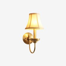 Rame Wall Lamp Brass Finish Lights on