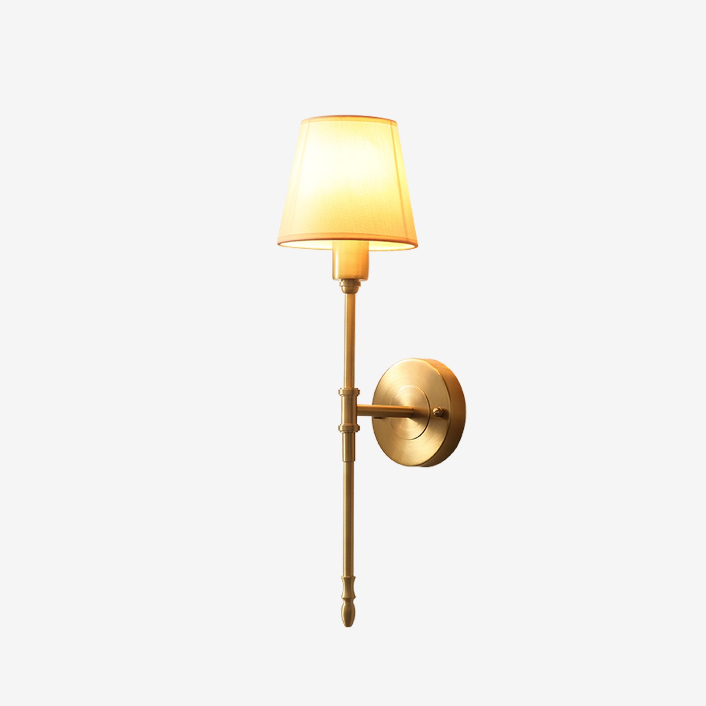 Lop Wall Lamp Brass Finish Lights on