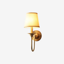 Noi Wall Lamp Brass Finish Lights on