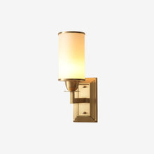Lin Wall Lamp Brass Finish Lights on