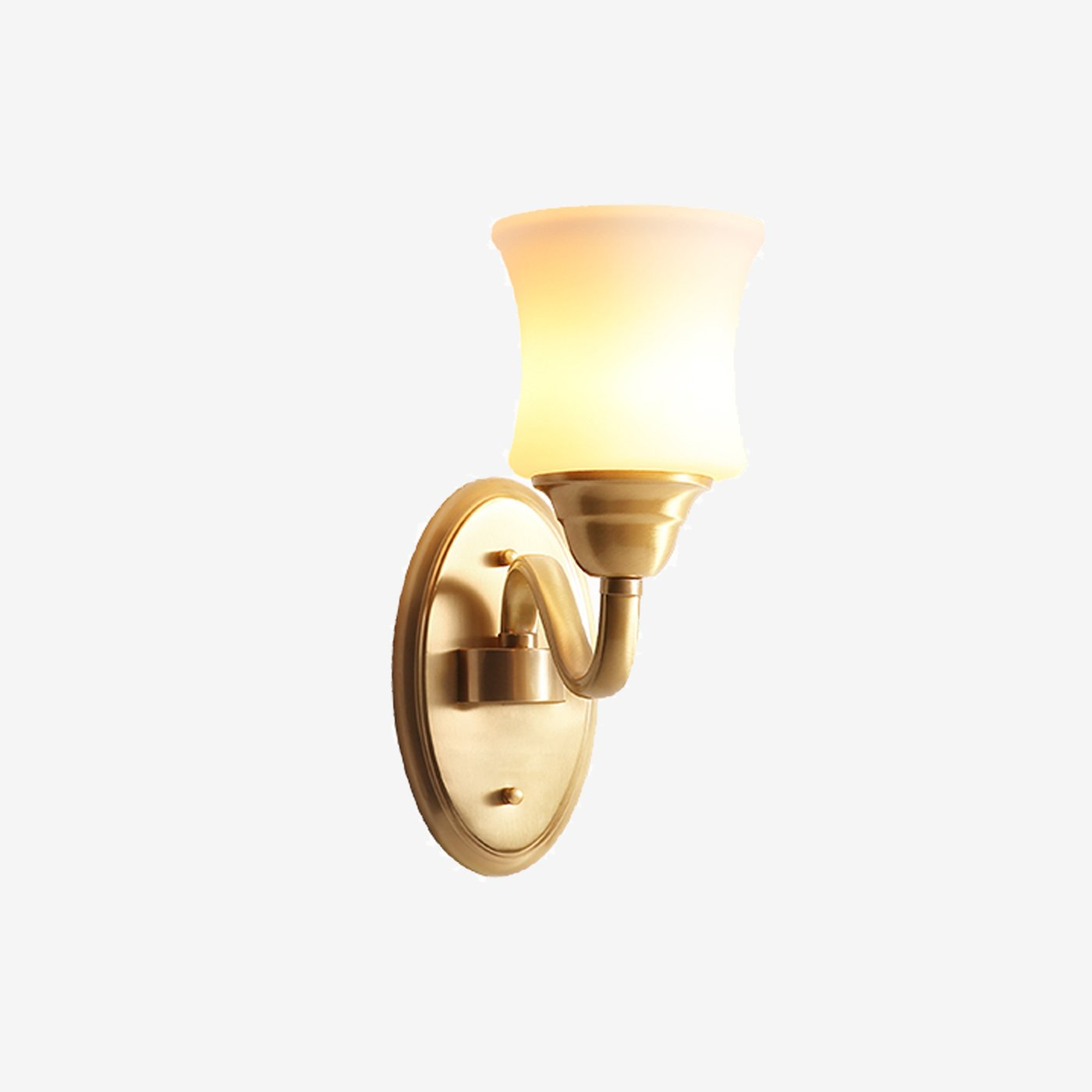 Wall Lamp Brass Finish With Glass Shades