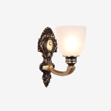 Lico Wall Lamp Bronze Finish Lights on