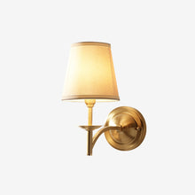 Brass Wall Lamp With Shades With Light On