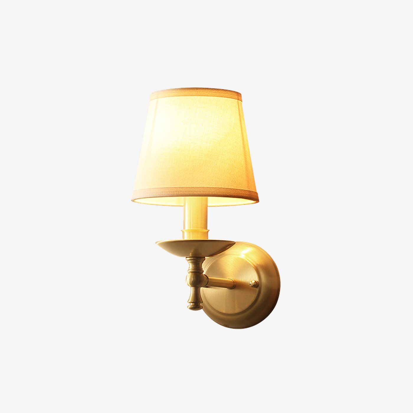Wall Lamp Brass Finish With Shade