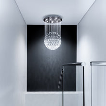 Sphere Raindrop Crystal Chandelier Ceiling Lights - Staircase