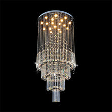 Floating Castle Raindrop Crystal Chandelier - Double Layer