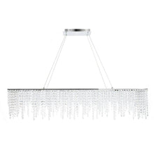 Contemporary Linear Rectangular Crystal Chandelier - details
