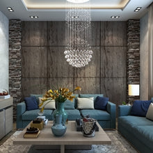 Double Sphere Raindrop Crystal Chandelier Living Room