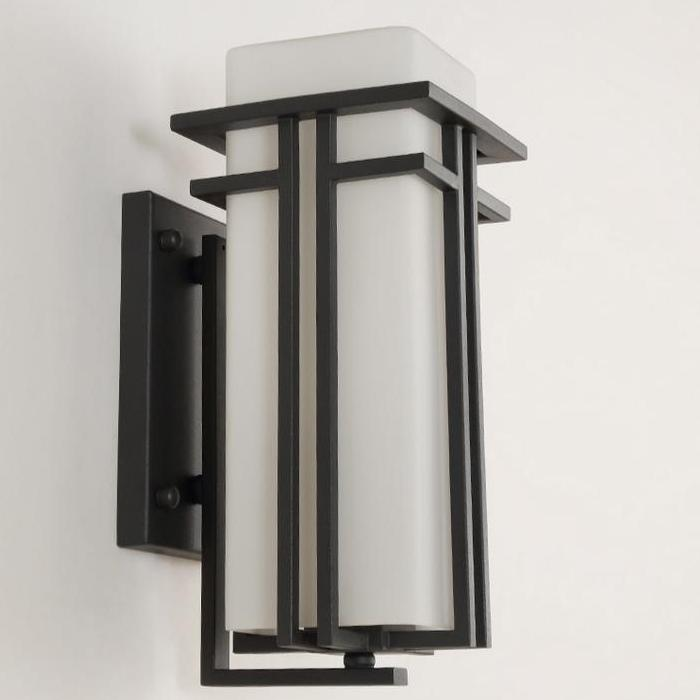 Wall Sconce With White Glass Shade - Details