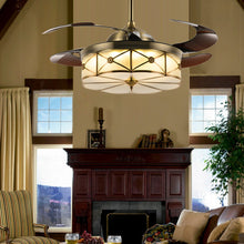 Retractable Ceiling Fans With Bronze Finished - Living Room