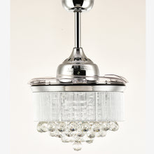 Crystal Ceiling Fan with Blades Closed