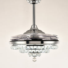 Crystal Ceiling Fan With Angular Design With Blades Retracted