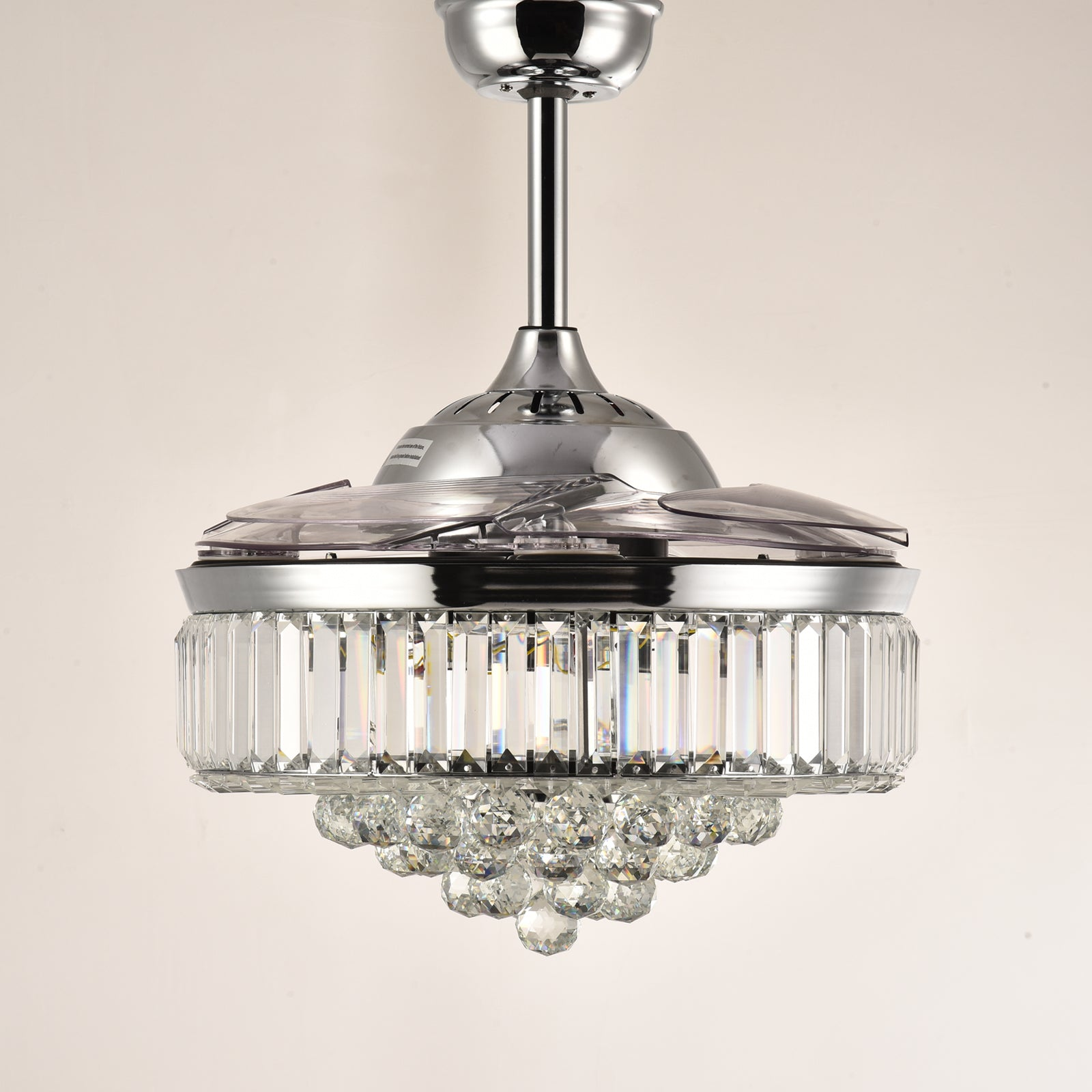 Crystal Ceiling Fan - Retractable Ceiling Fan Chandelier - Sofary