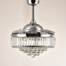 Retractable Ceiling Fan - Chandelier Ceiling Fan With Blades Retracted