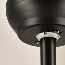 Ceiling Fan With Modern Lighting With Blades Retracted - Details