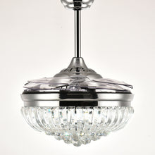 Crystal Ceiling Fan With Sphere Shape Design With Blades Retracted