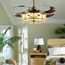 Retractable Ceiling Fans With Bronze Finished -Bedroom