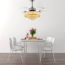 Retractable Ceiling Fan - Chandelier Ceiling Fan - Dining Room