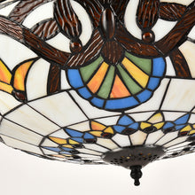 Brown Ceiling Fan Chandelier Light - Details
