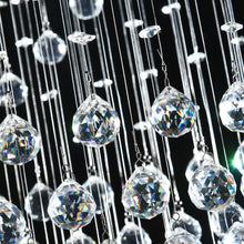 Modern Spiral Three Sphere Raindrop Crystal Chandelier Lighting - details