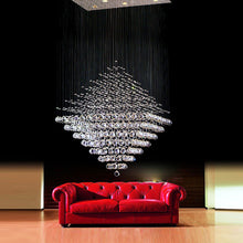 Rubik Lighting - Diamond Shape Crystal Chandelier - Living Room