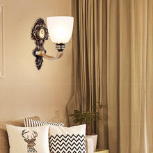 Lico Wall Lamp Bronze Finish At Living Room